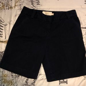 J.crew navy blue shorts